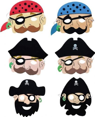 Pirate Foam Mask : 6 pack